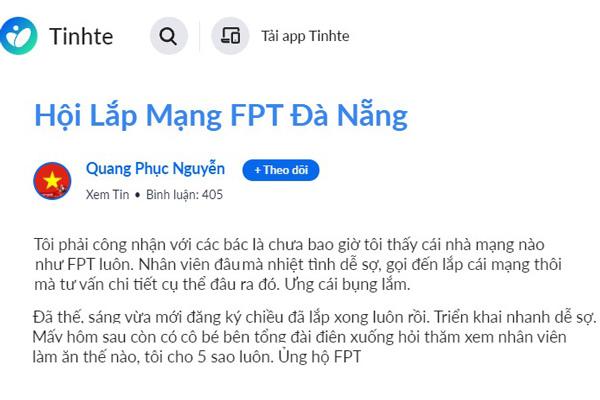 review lắp mạng fpt tại đà nẵng